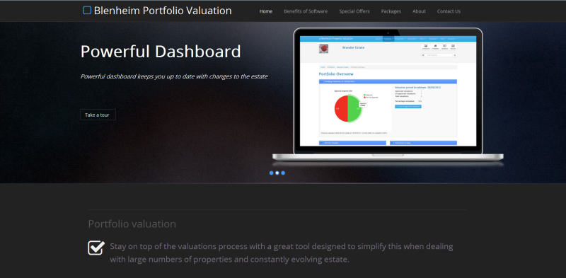 Property Portfolio Valuation website